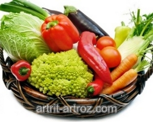 набор овощей в миске
