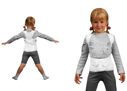 девочка в корсете вид спереди и сзади